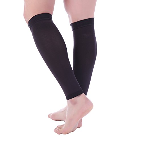Doc Miller Premium Calf Compression Sleeve 1 Pair 20-30mmHg Strong Calf Support Graduated Pressure for Sports Running Muscle Recovery Shin Splints Varicose Veins Plus Size (Black, 2-Pack, XX-Large) by Doc Miller (Image #9)