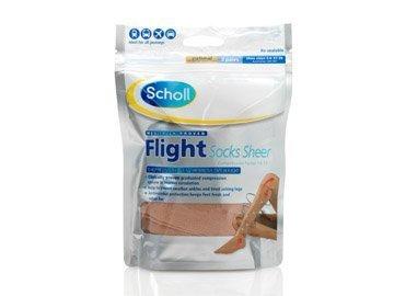 Scholl Flight Socks Sheer (sizes 6.5-8) 2 Pairs Including P & P*
