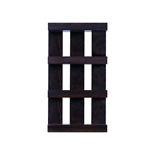 Solid Wood 4 tier Wall Mount Shelves Home Decor Decoration for Bathroom, Living Room, Kitchen and Entryway Made in the USA by Rooms Organized (Expresso, 22'' h x 15'' w x 4.25'' deep) by Rooms Organized (Image #7)