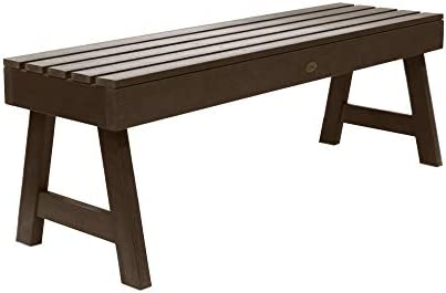 Highwood AD-BENN4-ACE Weatherly Backless Bench, 4-Feet, Weathered Acorn