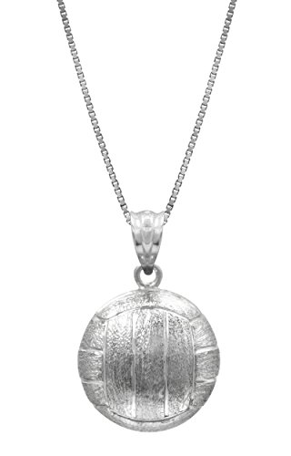 sterling-silver-3-d-volleyball-necklace-pendant-with-18-box-chain