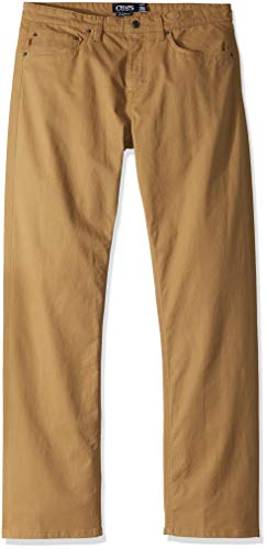 Chaps Men's Stretch 5 Pocket Twill Pant, New Bronze ()