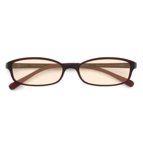 JINS PC Glasses Computer Eyewear Dark Brown (Light Brown Lenses, Cuts blue Light by - Scene Eyewear