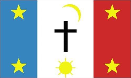 GHaynes Distributing RECTANGLE Pasqua Yaqui Flag Sticker Dec