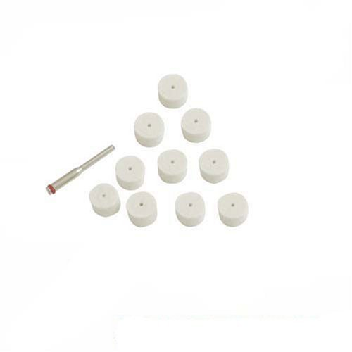 Silverline Wheel (11 Piece 13mm Felt Polishing Wheels Kit by Silverline)