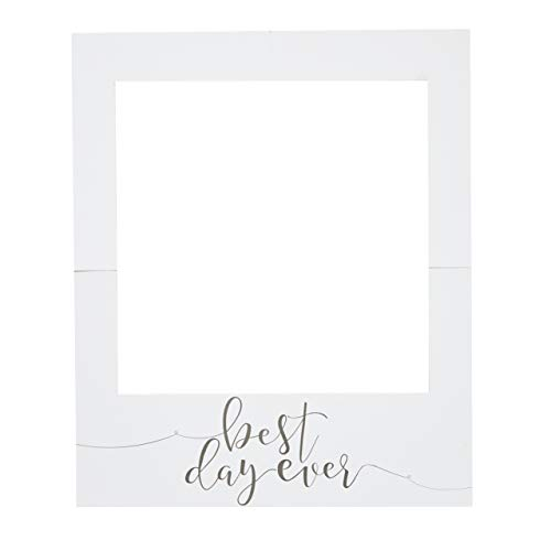 Ginger Ray Giant Polaroid Picture Frame Sign - Photo Booth Prop for Weddings, Bridal Showers & Parties -