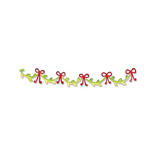 (Sizzlits Decorative Strip Die Christmas Collection Die Cutting Template Garland with Vine (6 Pack))