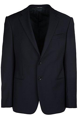 Emporio Armani Men's Wool Jacket Blazer Blu US Size 50 (US L) (Emporio Armani Wool Blazer)