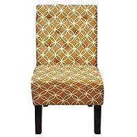 Carabelle BIAC0002BRP Penelope Chair, Geometric Tan/White Patern