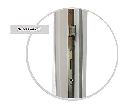 kuporta Kunststoff Haust/ür England T/üren 98 x 200 cm DIN links wei/ß Montageset Fugendichtband