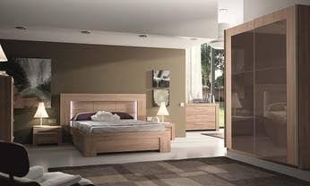 Chambre adulte complète contemporaine LOUBET, coloris bois ...