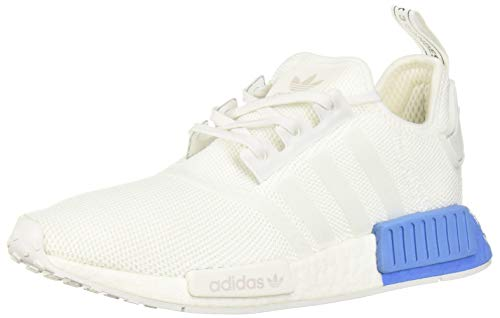 adidas Originals Unisex NMD_R1 Running Shoe, White/Real Blue, 5 M US Big Kid