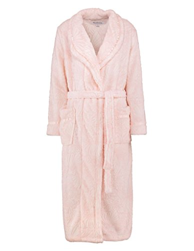 Slenderella HC7307 Women's Pink Floral Dressing Gown Robe Housecoat