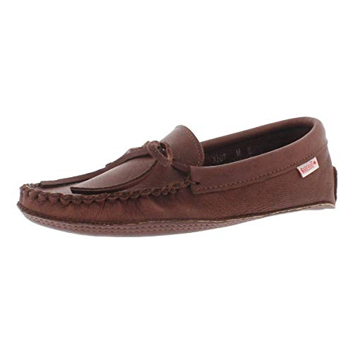 Moccasins Sole Double - SoftMoc Men's 3107 Double Sole Unlined Moccasin Woodstain 11 M US