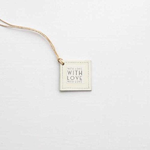 Cream Ceramic Salt Pig Plus With Love Gift Tag Salt Season With Love