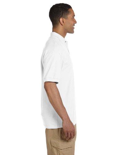 Adult Cotton Pique Polo (Gildan Adult Ultra Cotton 65 oz Piqué Polo - WHITE - XL - (Style # G380 - Original Label))