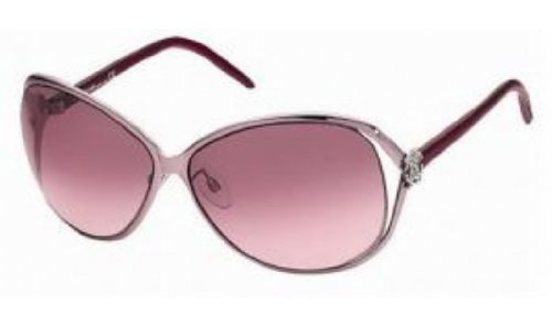 Roberto Cavalli Women's RC500 Round Sunglasses,Rose Pearl Frame/Gradient Burgandy Lens,one size