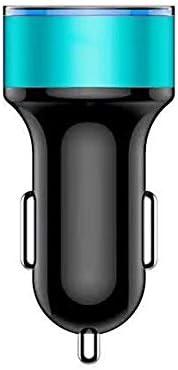 Car 車の充電器、3.1Aミニカーバッテリー充電器、サムスン華為小米科技モバイル充電ツアーのためのデュアルUSB車の充電アダプタ Car charger (Color : Blue)