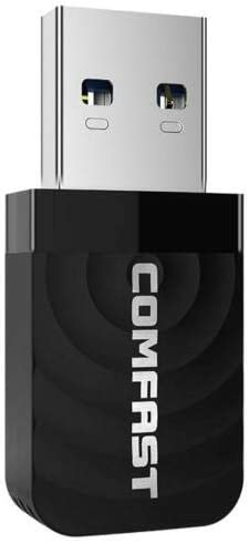 RONSHIN Great for COMFAST CF-812AC Mini USB 3.0 Wireless Network Card 1300Mbps Ethernet WiFi Dongle Adapter Receiver 802.11 b//g//n 5.8//2.4GHz Dual Band