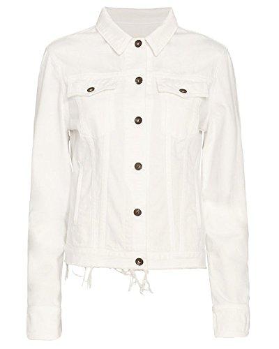 Rag & Bone Jean Jacket Fray White XS