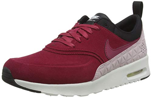 NIKE W Air Max Thea Premium Leather Women's Real Leather Sneaker Red 845062 600, Size:39 (Nike Air Max Thea Black And Red)