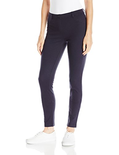 - IZOD Junior's Uniform Stretch Interlock Jegging, Navy, 7