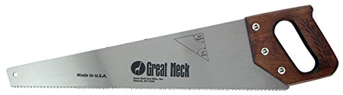 GreatNeck 20 Inch 9 Pt. Aggressive Hand Saw- Wood Handle
