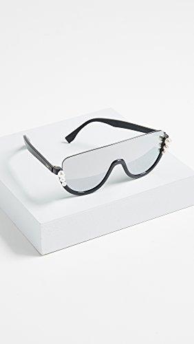 f6666fc07d ... Fendi RIBBONS AND PEARLS FF 0296 S BLACK DARK GREY women Sunglasses ...