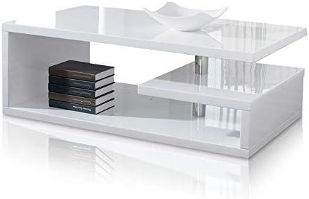 Rosa Designer Square Coffee Table White High Gloss Finish Amazon