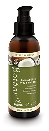 Botani-Australia-COCONUT-GLOW-BODY-HAIR-OIL-2-in-1-Body-Hair-Moisturizer-Frizz-Treatment-Silicone-free-Mediterranean-Crambe-Oil-provides-rich-amino-acids-Omega-3-6-Coconut-Lime-Scent