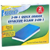 Reusable Sponge on One Side Quick Eraser on the Other. Scrub Buddies 2-in-1 Quick Sponge Eraser for Tough Cleaning Jobs