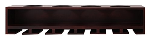 Kiera Grace Claret Wine Bottle and Glass Holder Wall Shelf, 21-Inch by 4.25-Inch, Espresso