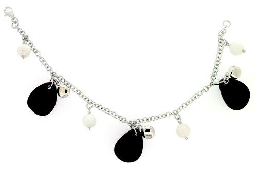 Bracelet - Femme - Argent 925/1000 5.65 Gr - Jade / Jaspe
