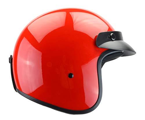 - Vega Helmets Unisex-Child Style CO5 Youth Open Face Helmet (Red, Small)