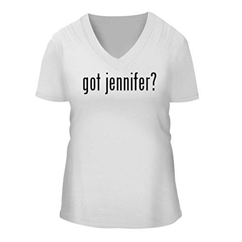 got jennifer? - A Nice Women's Short Sleeve V-Neck T-Shirt Shirt, White, - Jennifer White Aniston Shirt T