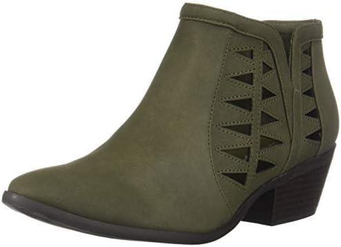 Soda Chance Women's Closed Toe Multi Strap Ankle Bootie (Khaki Green, numeric_5_point_5)