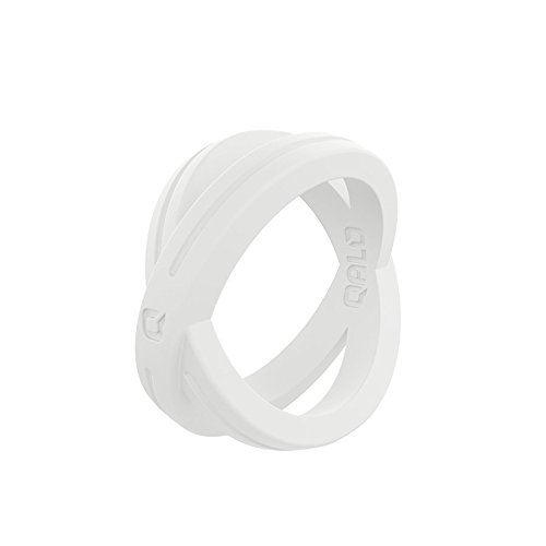 (Women's White Crossover Silicone Ring Size 08)