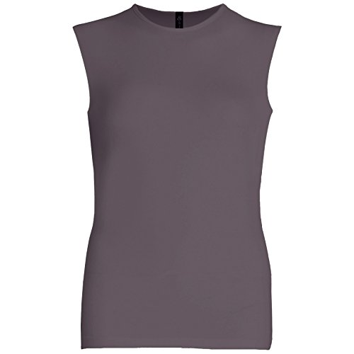 Esteez Womens Sleeveless Fitted Base Layering T-Shirt Charcoal XX-Large ()