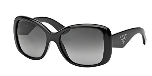 Prada 32PS 1AB5W1 Black Triangle Cats Eyes Sunglasses Polarised Lens Category 3