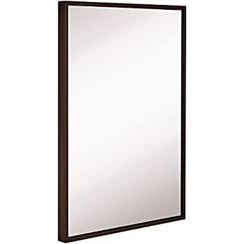 Amazon Com Clean Large Modern Wenge Frame Wall Mirror