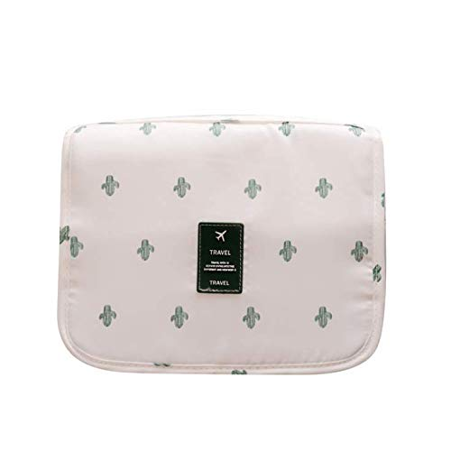 Hanging Travel Toiletry Bag Cosmetic Bag Waterproof Make up Organizer for Women and Girls (Cactus) (Best Weekend Trips From Sf)