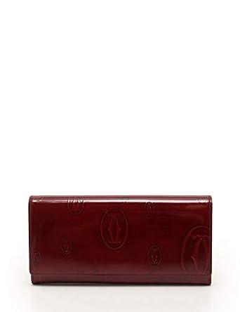 357762715a8c Amazon.co.jp: (カルティエ) Cartier ハッピーバースデー 二つ折り長財布 エナメルレザー ボルドー CRL3001281 中古:  服&ファッション小物