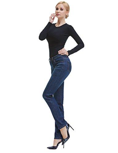 Camii Mia Women's Thick Thermal Slim Fit Jean Pants (W30 x L32, Blue Grey (new size)) by Camii Mia (Image #4)