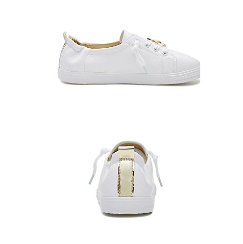 35 Shoes Shoes Women Breathable Leather Skateboard Dream Simple bottomed Shoes Color Gold Fashion 's Size Students Running Flat Leisure HXggqwzUx