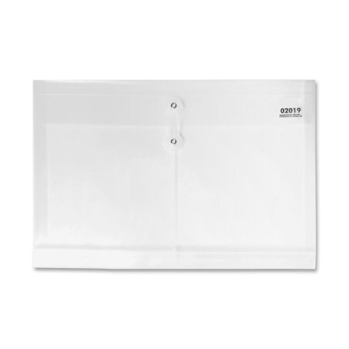 Sparco 02019 Poly Envelopes, Side Open, Legal, Clear