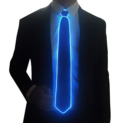 Light Up Neck Tie Led Tie for men Novelty Necktie for Rave Party Burning Man Festivals