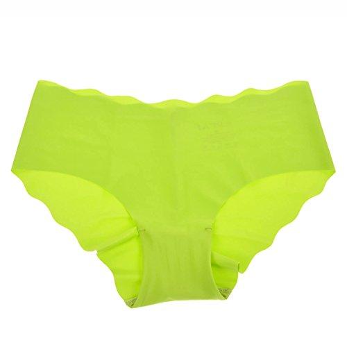 La Isla Women's Seemless Low Rise Sexy Smooth Cool Bikini Hipster Green XS