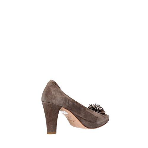 CALPIERRE Zapatos de salón mujer gris Gamuza AG734