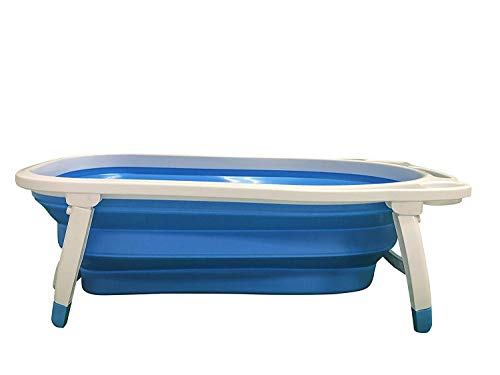 (Midlee Portable Collapsible Dog Bathtub (Blue))