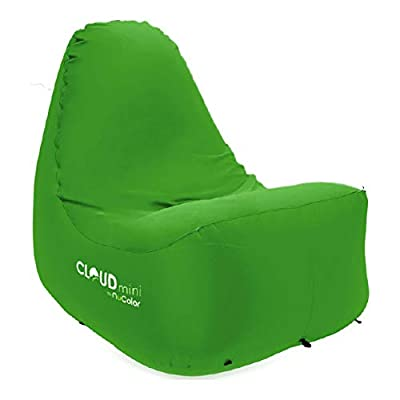 The Cloud Chair - Inflatable Lounger - Portable Luxury Outdoor Seating - Water Resistant & Tear Resistant Ripstop Nylon - Ultra Lightweight - Use on Any Surface [Green]: Kitchen & Dining